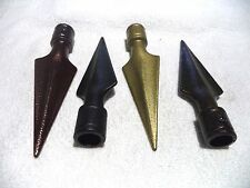 """1 Pair Javelin Metal Curtain Finials / Spidles for 3/4"""" Poles Swag Holders"""