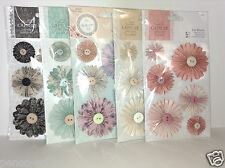 Papermania Card making flower Pin Wheels Bellisima or Capsule choose 1 from 5