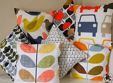 "Genuine Orla Kiely Fabric. 16"" / 40cm Cushion Covers Vintage Floral Chic Pillow"