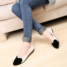 New Women's spring autumn Slip On Flat Pump Casual  Ballet Shoes Round Head