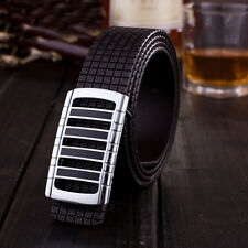 Hot Luxury Men's Leather Smooth Alloy Buckle Printing Casual Waistband Belt
