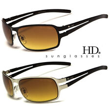 SPORT HD NIGHT DRIVING VISION SUNGLASSES WRAP METAL HIGH DEFINITION GLASSES