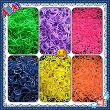 Scented Rainbow RUBBER BANDS fruity & Chocolate Refill Mixed Color fit any Loom