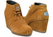 Authentic BRAND NEW TOMS WEDGES chestnut suede multiple sizes