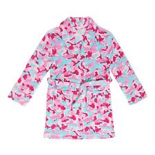 "Tweenklz Girls'  ""Operation Munchie"" print Plush Coral Fleece Robe"