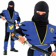 Martial Arts Ninja Boys Fancy Dress Japanese Samurai Childrens Costumes Outfit