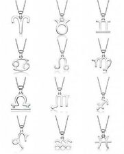 925 Sterling Silver Zodiac Constellation Charms Pendant Necklace Tgotobuy