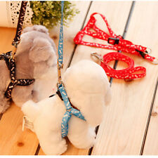 New Small Dog Pet Puppy Cat Adjustable Nylon Harness with Lead leash 5 Colors CN