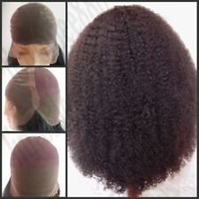"""Sexy 12""""14""""16"""" French Lace AFRO Curl 100% Indian Human Hair Full Lace Cap Wig"""