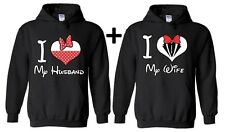 Couple Hoodie I Love My Husband Wife Valentines Day Gift For him hooded shirt