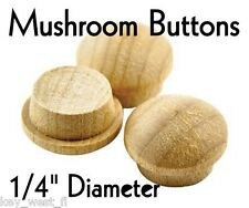 "1/4"" inch Maple Mushroom Buttons ~ Wood Screw Plugs ~ Lot of 12 to 500 by PLD"