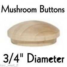 "3/4"" inch Maple Mushroom Buttons ~ Wood Screw Plugs ~ Lot of 12 to 500 by PLD"