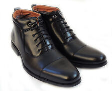 "NEW  ""FERRO ALDO"" MENS ANKLE BOOTS LEATHER LINED LACE UP DRESSY SHOES / Black"