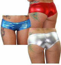 Juicee Peach Wet Look Hot Pants/Hipster Shorts for Pole Dancing/Dance Shorts