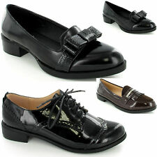Stunning Ladies Womens Lace Up Brogue Vintage Oxford Work School Shoe New Size