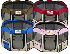 """45"""" Portable Folding Pet Exercise Playpen, Cat/Dog/Puppy Kennel Easy Storage"""