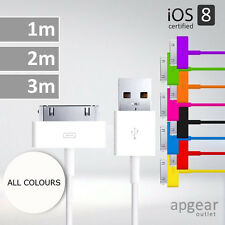 EXTRA LONG USB LEAD SYNC CHARGE DATA CABLE CHARGER FOR IPHONE 3 4 4S IPAD NANO
