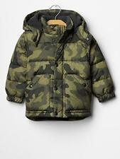 NWT Baby GAP Camo Hooded Warmest Puffy Plush Feather Down Fill Jacket Coat NEW