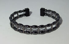 MAGNETIC  HEMATITE LADDER  BRACELET * Double Strand * Handcrafted * Black Clasp