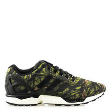 timeless design 3e97c 11214 Men s Adidas ZX Flux Deep Forest CBlack Carbon B34139 Running Trainer