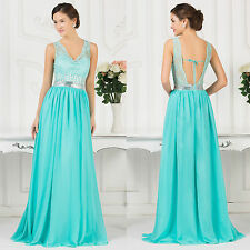 IN THE SALE Long Pageant Evening Prom Ball Bridesmaid Party Gown Wedding Dresses