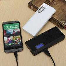 12000mAh LCD Dual USB Power Bank LED External Battery Charger For iPhone Samsung