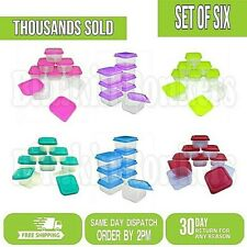 8 SMALL LITTLE MINI PLASTIC STORAGE BOXES BABY FOOD SPICES CONTAINERS TRAVEL POT