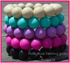 TEETHING BRACELET Silicone pendant beads teething necklace Baby chew jewellery