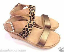 Vionic Orthaheel Cancun Leather Wedge Sandals w/ Arch Support