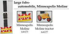 Minneapolis Moline tractor fobs, various designs & leather strap options