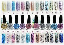 15ml Glitter Nail Polish Lacquer Sequins Art Decoration Tips *26 color Choose*
