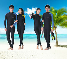 Men Women's Float Scuba Snorkeling Diving Suit Long Sleeve Rash Guards UPF50+