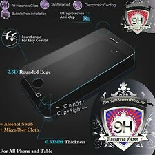 CLEAR Tempered Glass Screen Protector 9H Film For Apple Samsung Cover Case Phone