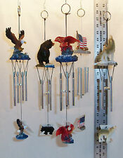 """12"""" POLYRESIN WIND CHIMES WITH TOP FIGURE, 4 MINI ALUMINUM TUBES, & 1 SM DROP"""
