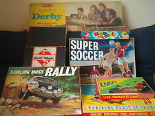 BOARD GAMES   VINTAGE & RARE Monopoly, Derby, Soccer  click on the site to chose