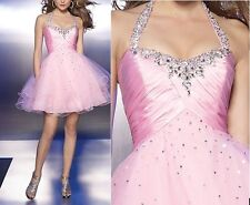 Pink Cocktail Bridal Wedding Party Ball Prom Gown Formal Evening Dress