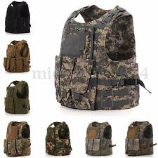 Combat Molle Assault Military Army Airsoft Tactical SWAT Vest for Police Holster