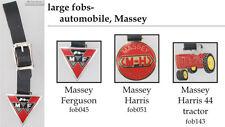 Massey tractor fobs, various designs & leather strap options