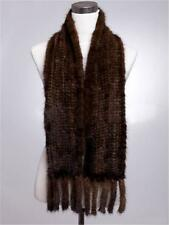 Nice Knitted Farm Mink Fur Scarf Cape Stole Shawl Wrap Christmas lovely 155*12cm