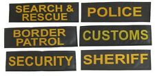 """Velcro ID Patches for service dog harness Size - 2"""" x 7"""" - SET OF 2"""