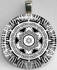 Handmade Interchangeable Magnetic Black and White Patterns #17 Pendant Necklace