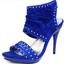 Women Shoes Stylish Evening Dress Heels Party Prom Stilettos Royal Blue