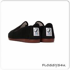 Flossy plimsoll JAVER STYLE (black) espadrilles pumps adult uk sizes 4-12