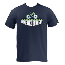 Bike Like Bennett - Navy Seattle Football Pride Bicycle Ride T-Shirt