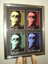 BONO U2 LTD EDITION SIGNED POP ART CANVAS