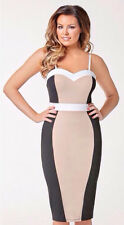 CELEBRITY INSPIRED STRAPPY SWEETHEART BUST ILLUSION PANEL MIDI DRESS