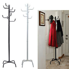 Home Furniture Hook Coat Rack Clothes Hat Scarf Holder 8 HOOK Hanger Tree Stand