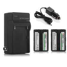2200mAh NP-FM500H Battery + Charger for Sony Alpha SLT-A57 A58 A65 A77 A99 A100