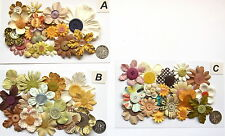 SCRAPBOOKING NO 258 - 16 PRIMA PAPER FLOWERS - 3 DIFFERENT PACKS AVAILABLE