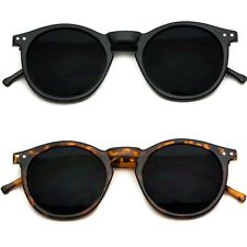 Vintage Retro Men Women Round Metal Frame Sunglasses Glasses Eyewear Black Lens